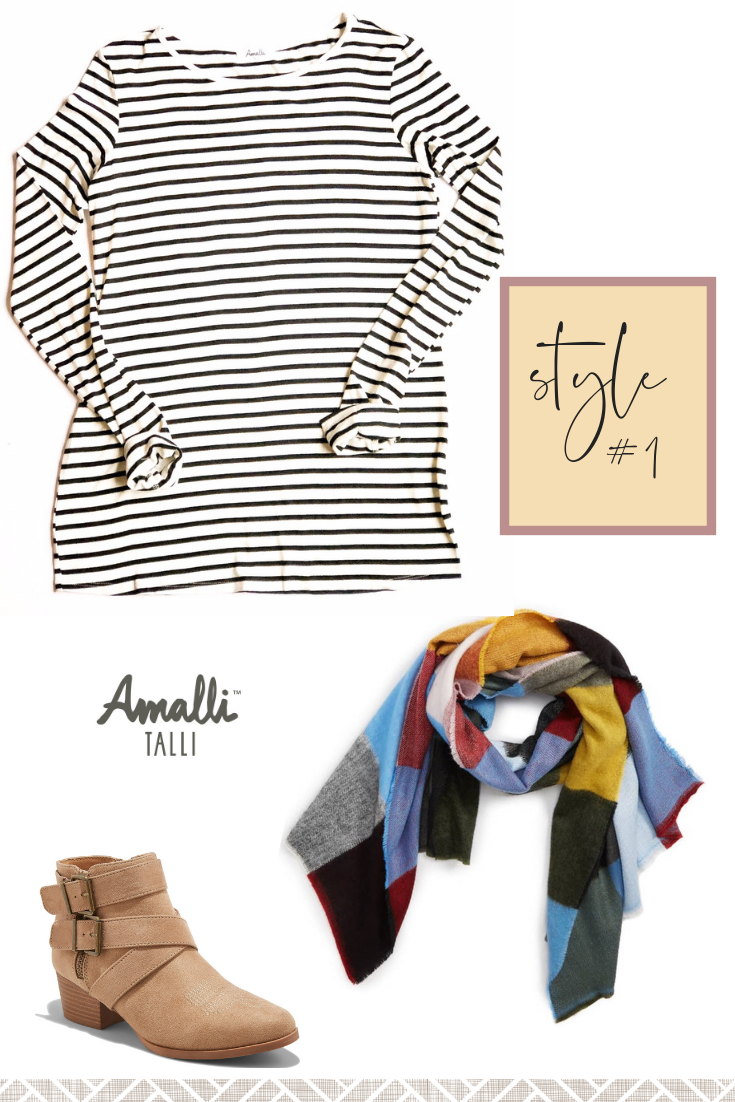 Amalli Talli Long Sleeve Striped Shirt Outfit