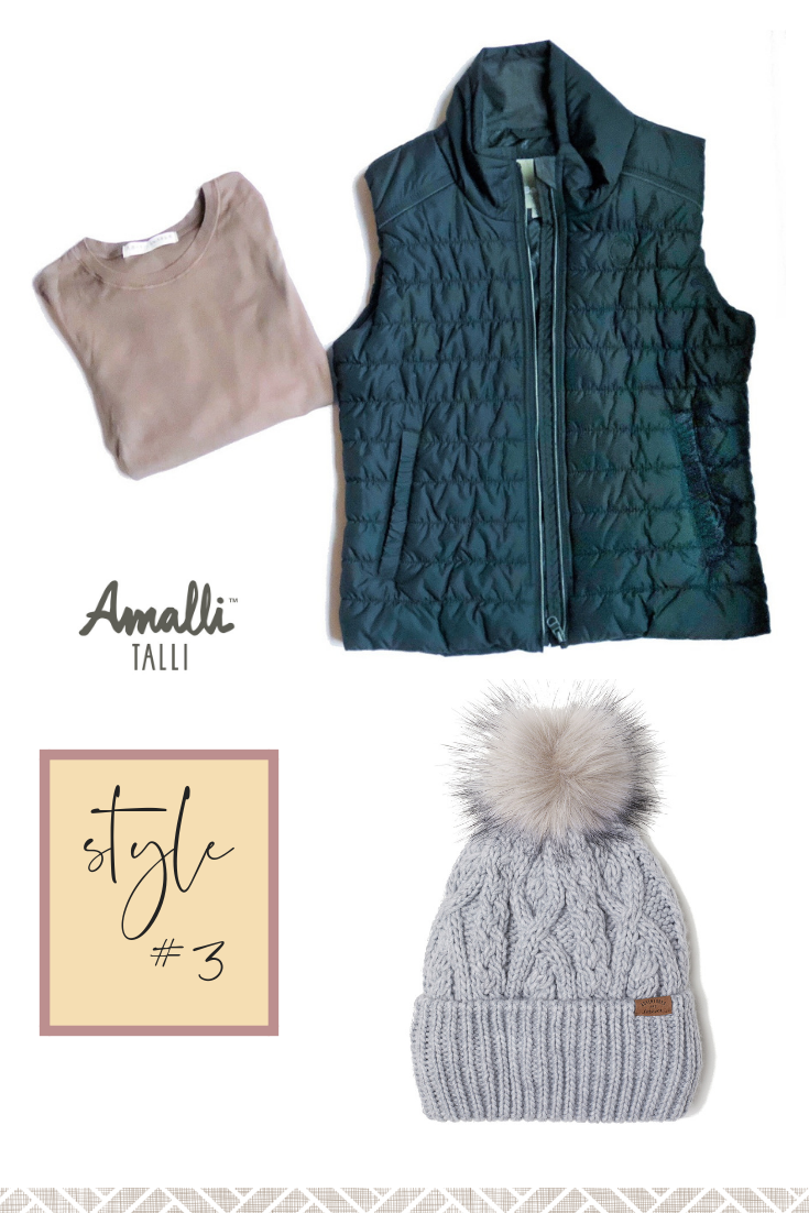 Delaney Top Guilted Gilet Vest Amalli Talli