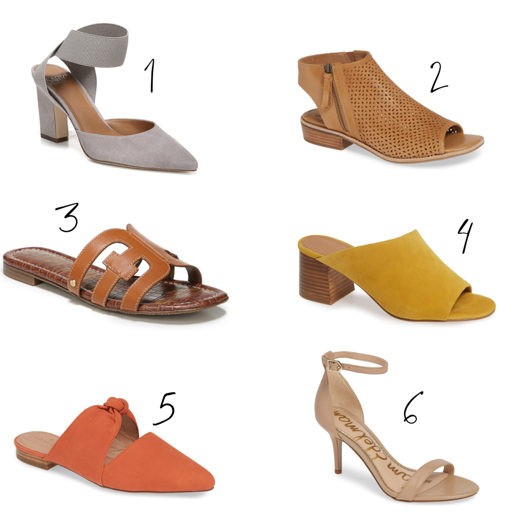 A variety of colorful, spring shoes (heels, sliders, pumps, wedges, espadrilles) in women's sizes 12 & 13 available at Nordstrom