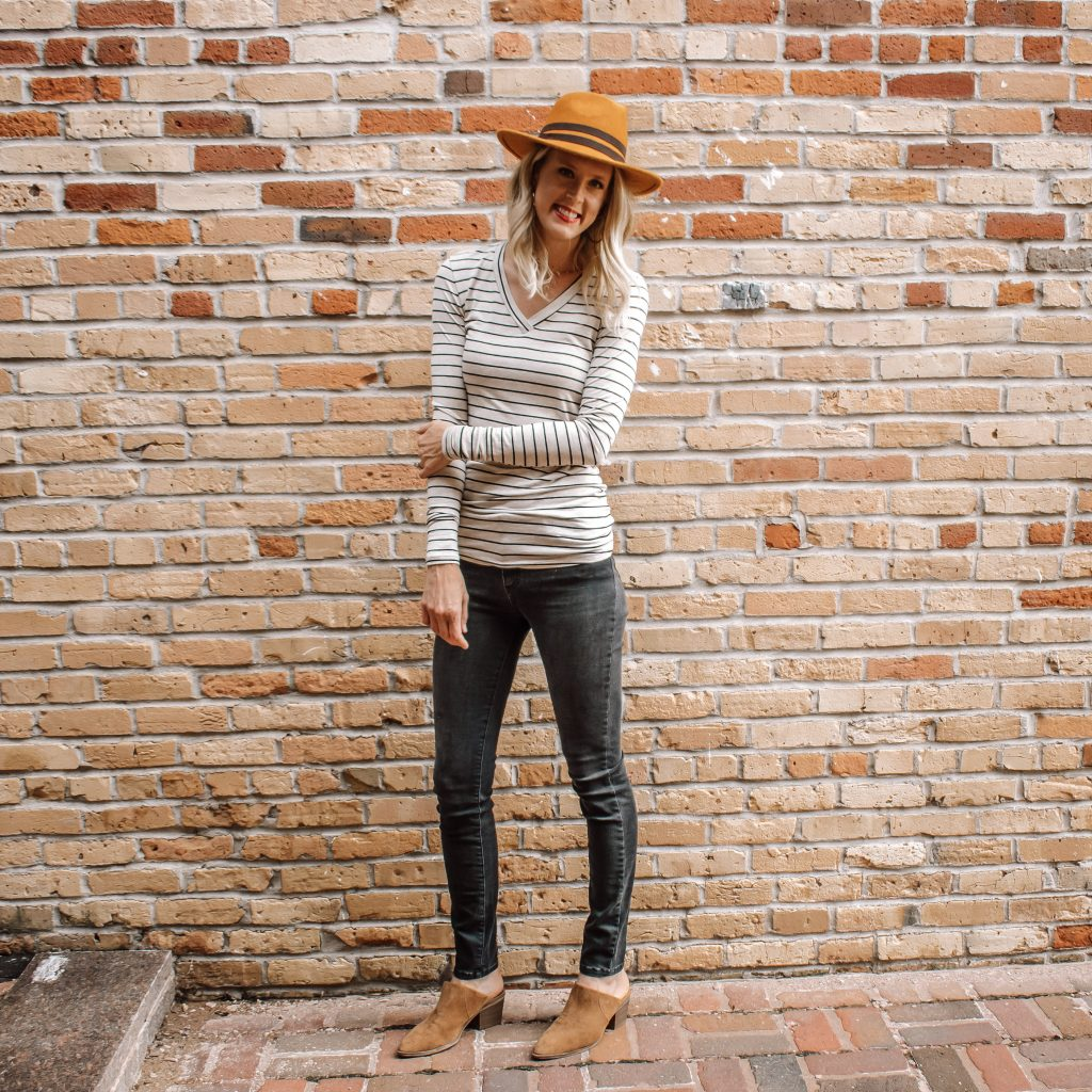 Striped V-Neck Long Sleeve from Amalli Talli