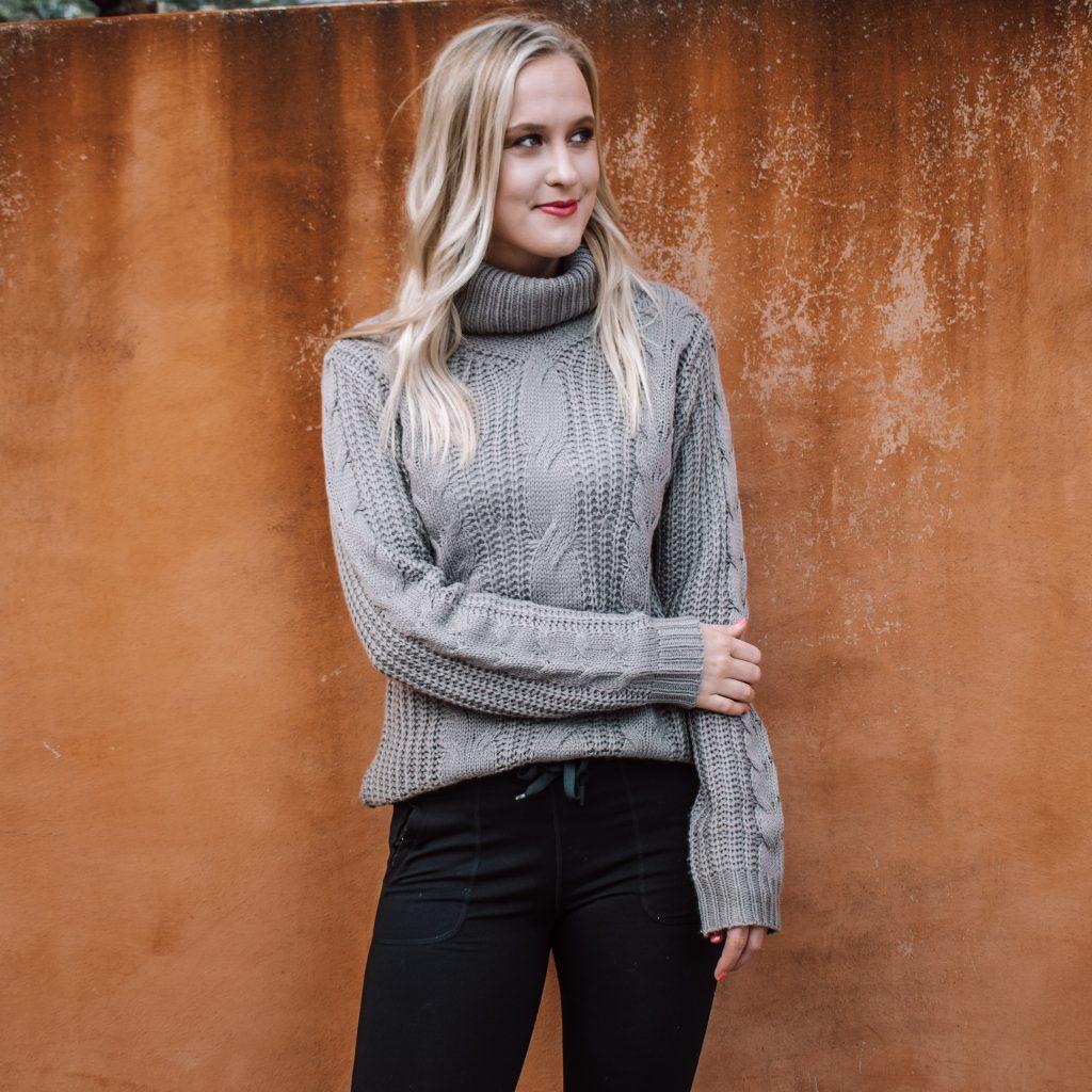 Tall Cable Knit Sweater Amalli Talli