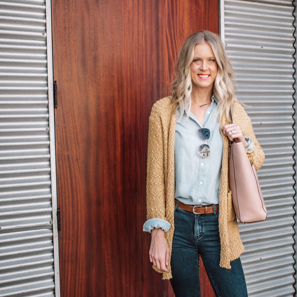 Tall Distressed Skinny Jeans and Cardigan Amalli Talli