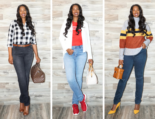 Tanasha of Pretty Tall Style tries on Amalli Talli Skinny Jeans