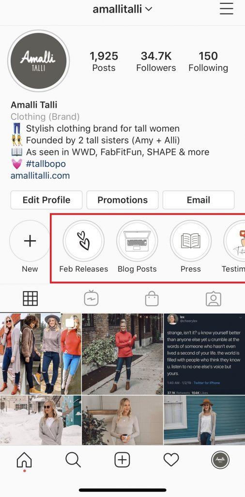 Amalli Talli Instagram Stories for Tall Girls