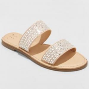 Kersha Embellished Slide Sandals Target (Women's Size 12)