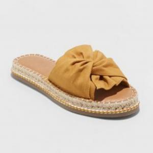 Lila Knotted Espadrille Slide Sandal (Women's Size 12)