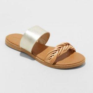 Torri Two Band Slide Sandals (Women's Size 12)
